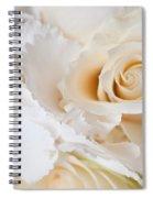 Wedding White Flowers Spiral Notebook