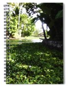 Weeds Plants Boats And Lots Of Greenery Spiral Notebook