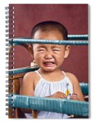 Weeping Baby In His Buggy Spiral Notebook