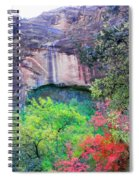 Weeping Rock At Zion National Park Spiral Notebook