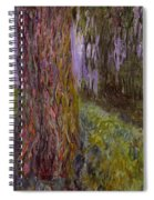 Weeping Willow And The Waterlily Pond Spiral Notebook