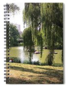 Weeping Willows In Central Park  Spiral Notebook