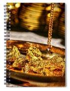 Weighing Gold Spiral Notebook