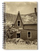 Weight Of The World - Antique Sepia Spiral Notebook