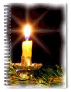 Weihnachtskerze - Christmas Candle Spiral Notebook