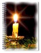 Weihnachtskerze - Christmas Candle Spiral Notebook
