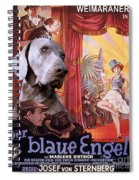 Weimaraner Art Canvas Print - Der Blaue Engel Movie Poster Spiral Notebook