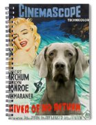 Weimaraner Art Canvas Print - River Of No Return Movie Poster Spiral Notebook