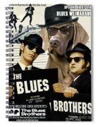 Weimaraner Art Canvas Print - The Blues Brothers Movie Poster Spiral Notebook