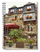 Weinhaus Restaurant Bachrach Germany Spiral Notebook