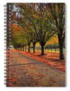 Welcome Home Bradford Pear Lined Drive-way Spiral Notebook