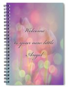 Welcome New Baby Greeting Card - Tulips Spiral Notebook