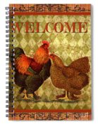 Welcome Rooster-61412 Spiral Notebook