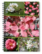 Welcome Spring Collage Spiral Notebook