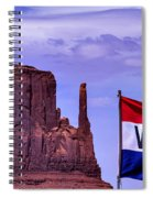 Welcome To Monument Valley Spiral Notebook
