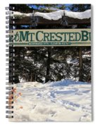 Welcome To Mt Crested Butte Spiral Notebook