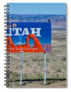 Welcome To Utah Spiral Notebook