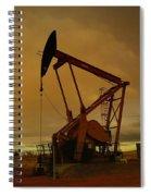 Wellhead At Dusk Spiral Notebook