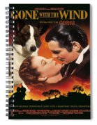 Welsh Corgi Cardigan Art Canvas Print - Gone With The Wind Movie Poster Spiral Notebook