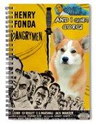 Welsh Corgi Pembroke Art Canvas Print - 12 Angry Men Movie Poster Spiral Notebook