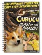Welsh Corgi Pembroke Art Canvas Print - Curucu Movie Poster Spiral Notebook