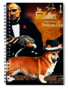 Welsh Corgi Pembroke Art Canvas Print - The Godfather Movie Poster Spiral Notebook