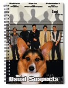 Welsh Corgi Pembroke Art Canvas Print - The Usual Suspects Movie Poster Spiral Notebook