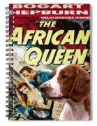Welsh Springer Spaniel Art Canvas Print - The African Queen Movie Poster Spiral Notebook