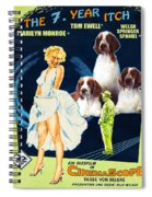 Welsh Springer Spaniel Art Canvas Print - The Seven Year Itch Movie Poster Spiral Notebook