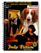 Welsh Springer Spaniel Art Canvas Print - Pulp Fiction Movie Poster Spiral Notebook