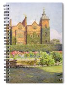 West Front And Gardens Of Hatfield Spiral Notebook