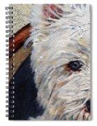 West Highland Terrier Dog Portrait Spiral Notebook