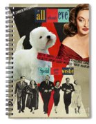 West Highland White Terrier Art Canvas Print - All About Eve Movie Poster Spiral Notebook