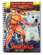 West Highland White Terrier Art Canvas Print - Spartacus Movie Poster Spiral Notebook