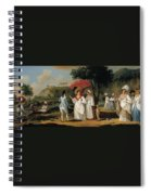 West Indian Landscape With Figures Promenading Before A Stream Spiral Notebook