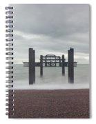 West Pier Skeleton In Brighton Spiral Notebook