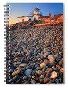 West Point Lighthouse Rocks Spiral Notebook