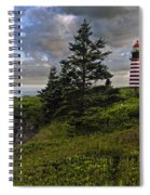West Quoddy Head Lighthouse Panorama Spiral Notebook
