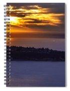 West Seattle Soaring Sunset Spiral Notebook