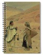 West Tibetans, 1875 Oil On Canvas Spiral Notebook