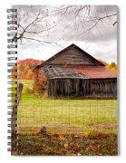 West Virginia Barn In Fall Spiral Notebook