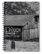 West Virginia Barn Monochrome Spiral Notebook
