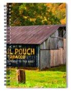 West Virginia Barn Oil Spiral Notebook