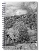 West Virginia Barns Monochrome Spiral Notebook