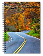 West Virginia Curves 2 Oil Spiral Notebook
