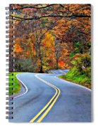 West Virginia Curves 2 Spiral Notebook