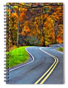 West Virginia Curves Painted Spiral Notebook