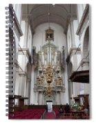 Westerkerk Interior In Amsterdam Spiral Notebook