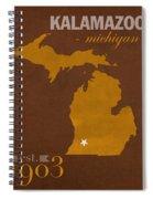 Western Michigan University Broncos Kalamazoo Mi College Town State Map Poster Series No 126 Spiral Notebook