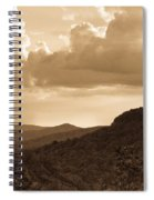 Western Mountain Scene In Sepia Spiral Notebook